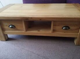Solid Oak Like NEW DFS Chateaux Coffee Table
