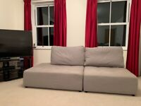 John Lewis grey sofa