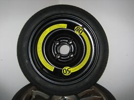 VW POLO SPARE WHEEL SPACE SAVER 105 70 R14 Tyre Michelin TEX, Fits 6N1, PCD 4x100