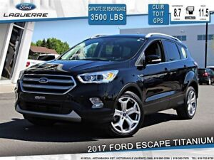 2017 Ford Escape TITANIUM**AWD*CUIR*TOIT*GPS*CAMERA