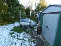 4x3 Car Trailer, Tipping body, working lights, clean, used regularly, light to tow,.