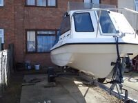 Sea Hog sea jeep 16ft fishing & leisure boat very clean & tidy 50hp tohatsu outboard with T&T