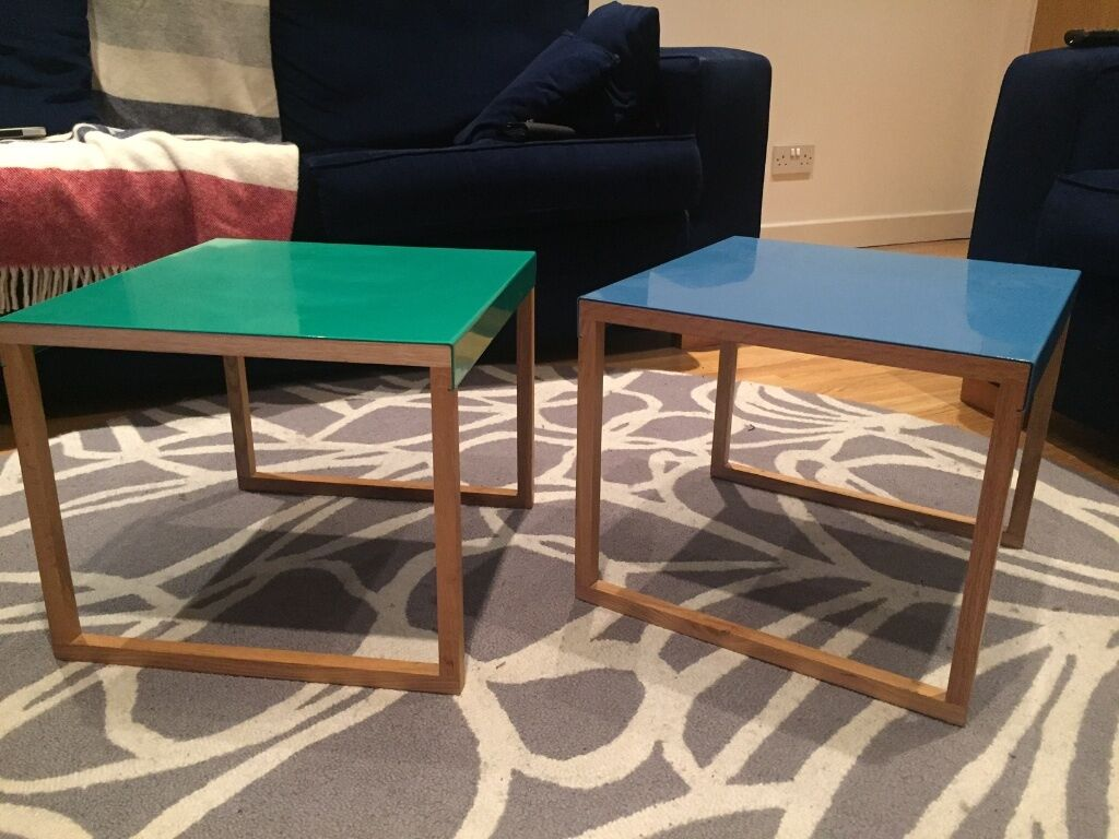 habitat coffee table (kilo) // blue | in mile end, london | gumtree