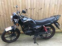125cc 2016 motor bike 1200 miles cbf cbr ybr rkv