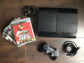PS3 Super Slim 500GB + 6 games