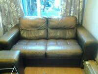 Sofa, 2 seater leather or leather look