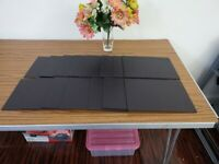 Brown Faux Leather Large Dinner Plates Placemat- £85% off