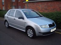 SKODA FABIA 1.4,2001 (51),ONE OWNER,FULL UP TO DATE SERVICE HISTORY,12 MONTHS MOT.
