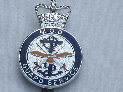MOD Guard Service,  farbig, Ministry of Defence, Wachdienst,Capbadge
