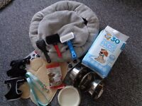 PUPPY STARTER PACK. INC, EVERYTHING NEEDED FOR A NEW PUP.