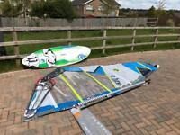 Gecko 112ltr board and sail