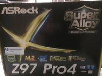 ASRock Z97 Pro4 motherboard - UNUSED, ALL ORIGINAL PACKING / MANUALS ETC