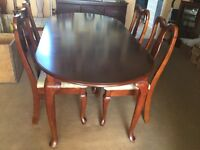 Dark wood dining table& 4 chairs