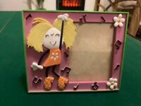 """Cute Vintage Bubblegum Groovy Chick Pink Photo Frame 3.5x2.75"""" Retro Collectable"""