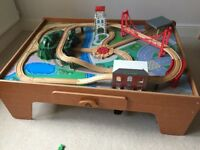 ELC train table complete with track and accessories