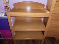 Wooden Cosatto changing table - used