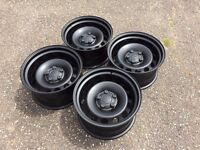 Vw Transporter T4 geniune banded steel wheels, 5x112, staggered audi seat