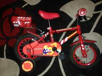 Firechief kids bike with stabilisers (12'')