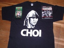 CHOI FIGHT STUFF AND T SHIRT WORN BY HIS SECOND , LENNY LEE