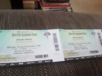 X2 Tickets Bruno Mars Hyde Park Saturday 14th July.This concert is sold out!