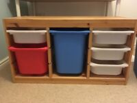 IKEA Trofast storage system with boxes