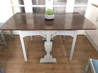GENUINE VINTAGE TABLE FREE DELIVERY LDN🇬🇧SHABBY CHIC DROP LEAF