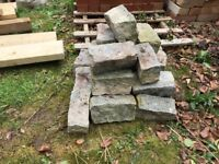 27 Granite Setts - silver grey- ideal for use on a driveway/garden border - priced to sell quickly!