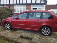 Peugeot 307 SW 1.6 Diesel 7 Seater Family Car 2005 clean in and out