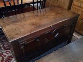 Wooden Oak Coffer
