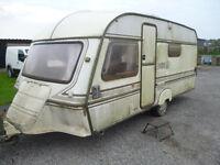 4 berth caravan with awning