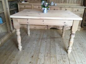 4 seater pine table county farmhouse rustic solid pine table