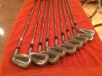 Full set of golf irons