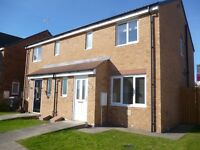 3 bedroom semi in Bishop Cuthbert available now garage with parking space and west facing garden