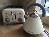 Russell Hobbs Cream Kettle & Toaster