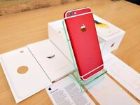 Apple iPhone 6S 16GB RED & WHITE (Unlocked) Smartphone GREATE CONDITION MUST SEE