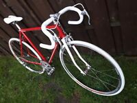 Vintage road bike rebuilt, shimano rs20 wheels.never ridden. New parts.