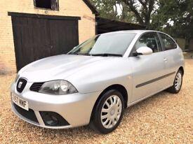 2007-57 SEAT Ibiza 1.4 *YouTube Video* Low Insurance New MOT Service + Cambelt + HPi Clear + Warrnty