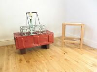 Vintage Metal Ammunition Box / Coffee Table / Storage Chest