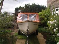 Fishing Boat - dinghy with collapsible cuddy, trailer and outboard (can split) REDUCED