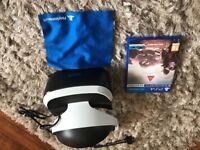 PlayStation VR headset with farpoint game in as new condition