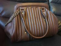 LONDON DESIGNER SUZY SMITH BROWN GENUINE LEATHER HANDBAG SHOULDER BAG NEW