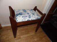 vintage stool with storage