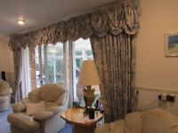 Lounge and dinning room curtains & pelmets