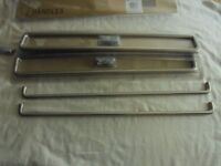 A BOX of 16 Packs B&Q Wire D Handles 450mm Brushed Nickel Finish