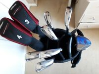 WILSON DEEP RED GOLF SET WITH CARRY CASE