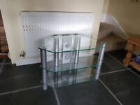 Glass 3 shelf TV stand - £20