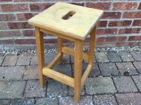Beech wooden stool