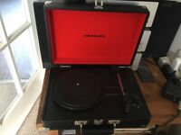 Brief case record player