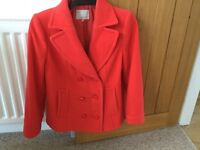 Short winter coat size 14 , lovley condition hardly worn.