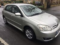 2006 (06) TOYOTA COROLLA 1.6 AUTOMATIC 5 DOOR SILVER COLOUR COLLECTION 67k FSH